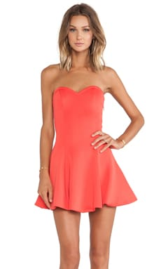 Lovers + Friends Wisteria Fit & Flare Dress in Coral