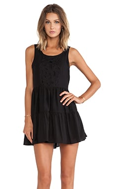 Lovers + Friends Secret Crush Babydoll Dress in Black