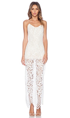 Jhene Aiko for Lovers +  Friends Reflection Maxi Dress in White