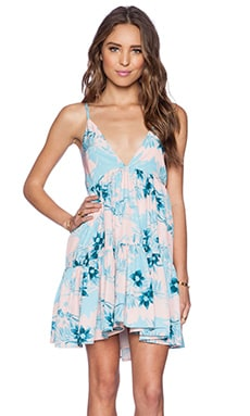Lovers + Friends Meet Me At Sunset Babydoll Dress in Jungle Floral