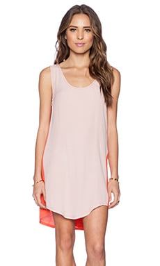 Lovers + Friends Dandy Shift Dress in Peach & Terracota