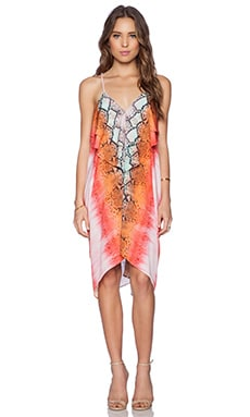 Lovers + Friends Aphrodite Midi Dress in Aztec Python