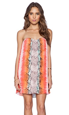 Lovers + Friends Sunburst Dress in Aztec Python