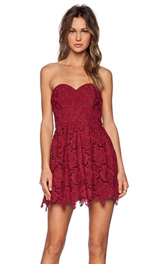 Lovers + Friends Smitten Dress in Wine