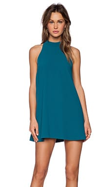 Lovers + Friends Lily Dress in Emerald