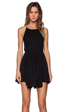 Jasmine Fit & Flare Dress in Black