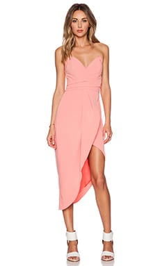 Lovers + Friends x REVOLVE Riviera Strapless Dress in Coral