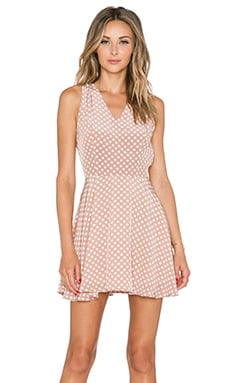 Lovers + Friends April Dress in Polka Dot