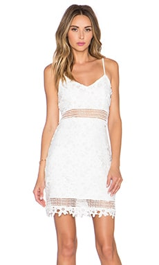 Lovers + Friends x REVOLVE Rock the Boat Mini Dress in White