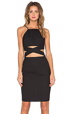 Lovers + Friends x REVOLVE Double Cross Midi Dress in Black