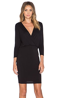 Lovers + Friends x REVOLVE Surplice Midi Dress in Black