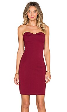 Lovers + Friends x REVOLVE Strapless Staple Dress in Merlot