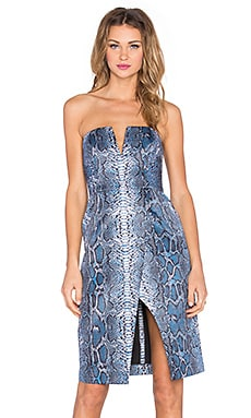 Lovers + Friends Covergirl Dress in Night Python