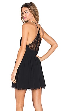 Lovers + Friends Cocktail Fit & Flare Dress in Black