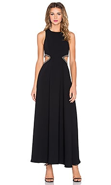 Lovers + Friends Penthouse Maxi Dress in Black