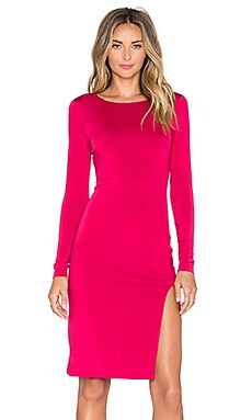 Lovers + Friends x REVOLVE Perfect Long Sleeve Dress in Dark Red