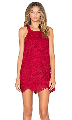 x REVOLVE Caspian Shift Dress in Merlot