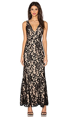 x REVOLVE Unforgettable Gown in Black