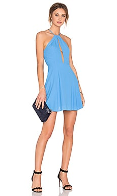 x REVOLVE Journey Fit & Flare Dress en Aqua