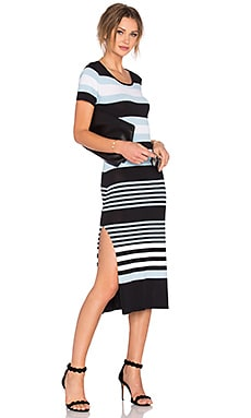 Lovers + Friends Diary Dress in Multi Stripe