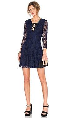 Lovers + Friends x REVOLVE Kimmie Fit & Flare Dress in Navy