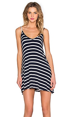 Lovers + Friends Ocean Day Dress in Navy Stripe