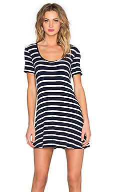 Lovers + Friends Knot Your Dress in Navy Stripe