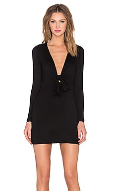 x REVOLVE Love Twist Dress in Black