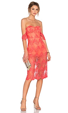 Lovers + Friends Breathless Midi Dress in Coral Reef