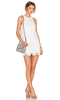 x REVOLVE Caspian Shift Dress in White