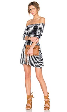 Lovers + Friends All Of Me Dress in Navy Stripe