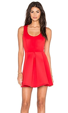 x REVOLVE Flawless Fit & Flare Dress in Red
