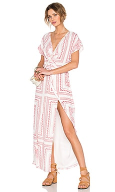 Lovers + Friends x REVOLVE Twilight Maxi Dress in Red Bella Scarf