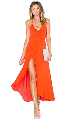 Lovers + Friends Nostalgia Maxi Dress in Coral Reef