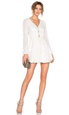 Lovers + Friends Shimmy Dress in Ivory