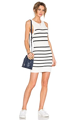 Lovers + Friends Shadow Play Dress in Black Stripe