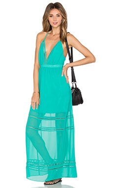Lovers + Friends Lunar Maxi Dress in Turquoise