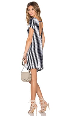 Hiatus Dress in Navy Stripe