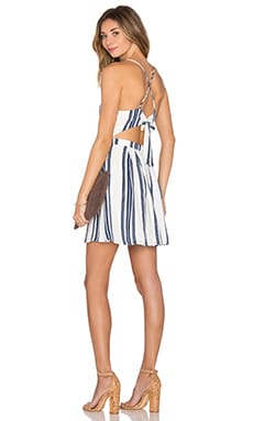 Forget Me Not Dress in Navy Stripe