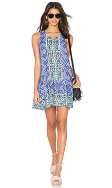 Lovers + Friends I Heart Babydoll Dress in Medina Scarf