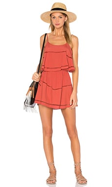 Lovers + Friends Paradise Bay Dress in Rust