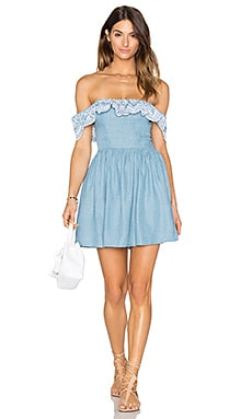 Lovers + Friends Dream Vacay Dress in Light Wash