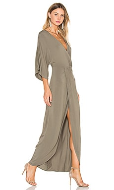 Lovers + Friends Cruise Wrap Dress in Moss