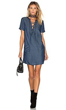 Lovers + Friends Waterfront Dress in Dark Wash