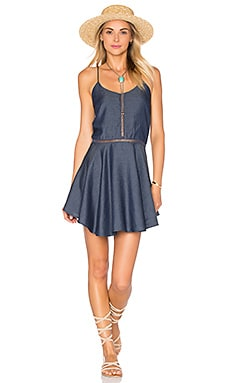 Lovers + Friends Northbound Dress in Dark Wash