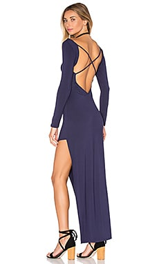 Lovers + Friends Allure Maxi Dress in Navy