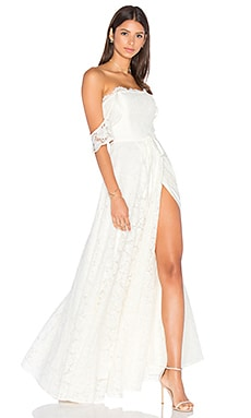 Lovers + Friends Vienna Gown in White