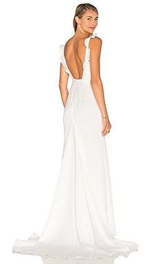 Lovers + Friends California Gown in White
