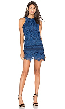 Caspian Shift Dress in Navy