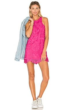 x REVOLVE Caspian Shift Dress in Fuchsia